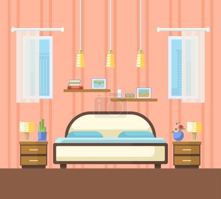 Vector illustration of  bedroom