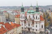 St. Nicholas Church from Old Town Square, Prague, Czech Republic