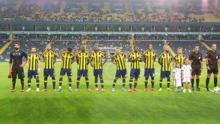 ISTANBUL AUGUST 08: Fenerbahce Football team befor...