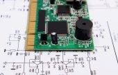 Desky plošných spojů na diagramu elektroniky, technologie