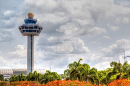 Singapore Changi Airport Traffic Controller Tower