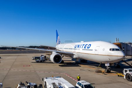 United Airlines on the Tarmac of Narita Airport