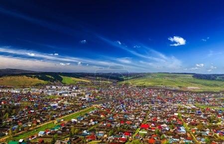 Photo pour SIM ville réelle en vue de Bachkirie, en Russie, d'en haut - image libre de droit