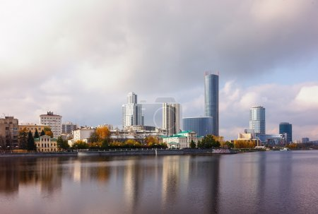 Photo for Ekaterinburg embankment fall day cloud - Royalty Free Image