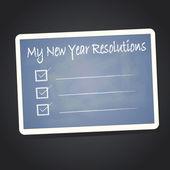 My new year resolution on blackboard