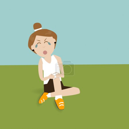 Runner feeling pain with sport injury