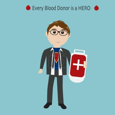 People are hero for blood donation