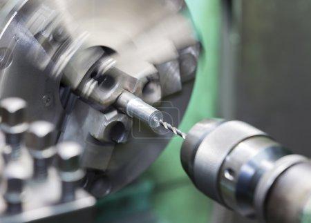 drilling by lathe machine