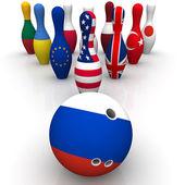 Geopolitika jako bowling hra