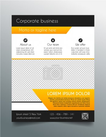 Business flyer template - fresh orange design
