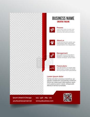 Corporate business flyer template in modern sleek design