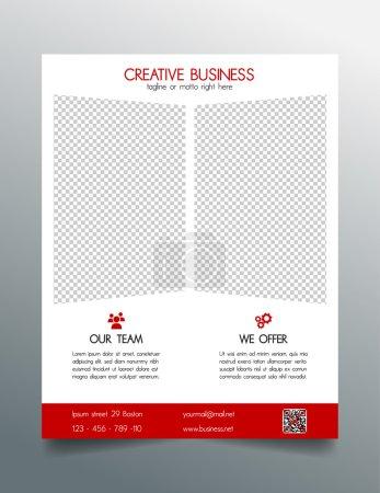 Création d'entreprise flyer modèle - rouge élégant design simple et moderne