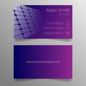 Business card template - modern purple design