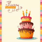 Přání k narozeninám s dortem
