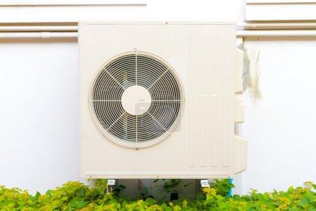 air condenser install at the wall