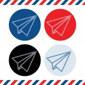 paper plane flat style icons