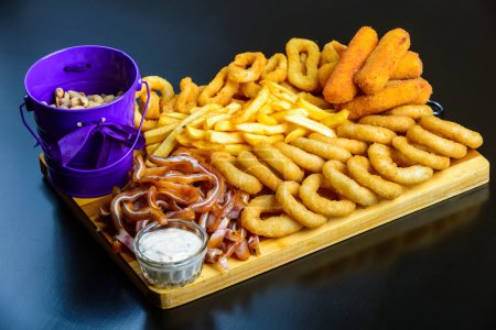 Fried snack to beer