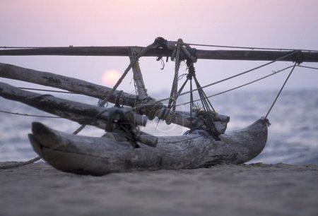 Dhoni Fishingboat at the coast of Nagombo
