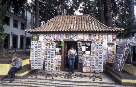 newspaper shop in the city centre of Funchal