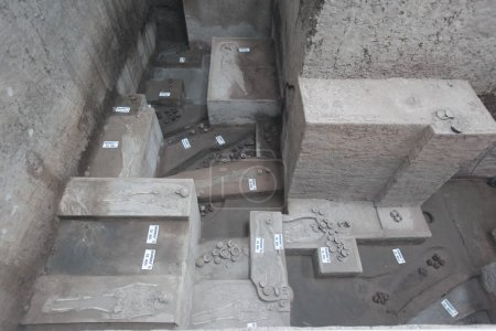 Ancient tombs with human skeletons