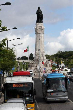Monument of Marques de Pombal in Lisbon