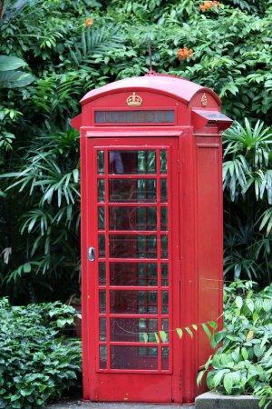 old brithish telephone cabin