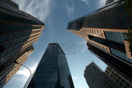 Modern skyscrapers in Singapore