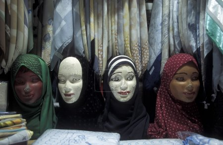 mannequins with traditional Arab hijabs