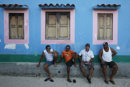 people in the village on the Gran Roque Island