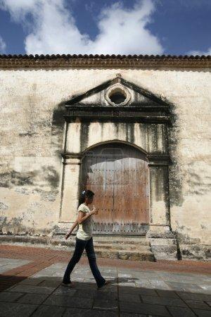 town of La Asuncion on the Isla Margarita in the Venezuela