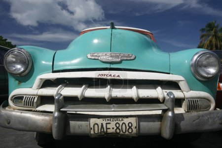 old american car in the town of Juangriego