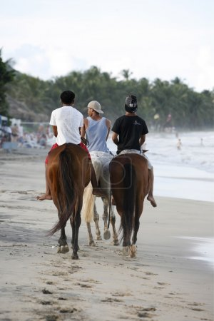 people on horses on the Coast at the beach