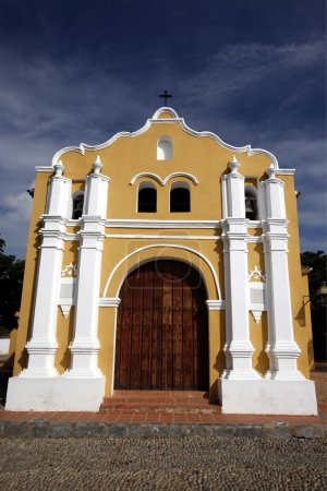 Photo pour Ancienne église coloniale dans la ville de Coro dans l'ouest du Venezuela - image libre de droit