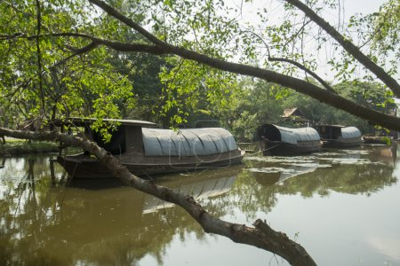 Traditional transportboats in the Ancient City or Muang Boran