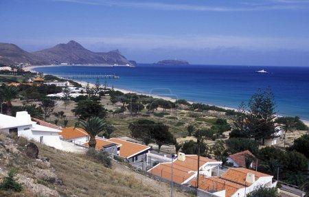 coast on the Island of Porto Santo
