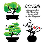 Bonsai vector set on a white background illustration template