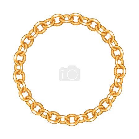 Round frame  - gold chain