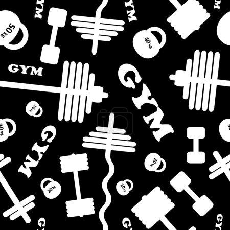 Gym. Seamless  pattern.
