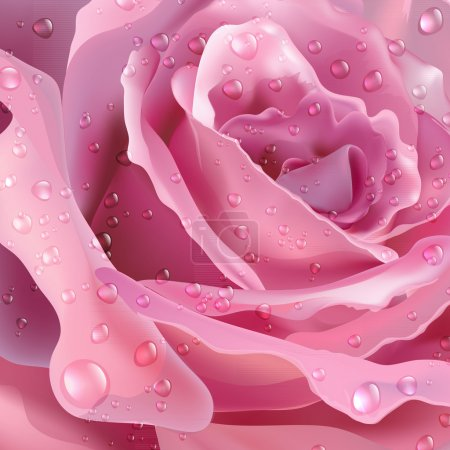 Illustration for Rose. Texture. Vector background for your design - Royalty Free Image