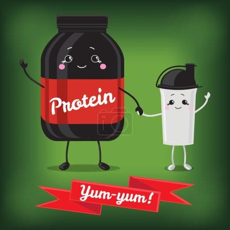 Cute Jar Sport Nutrition and Shaker.