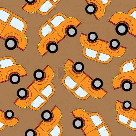 Cartoon cars seamless pattern. Template for design.