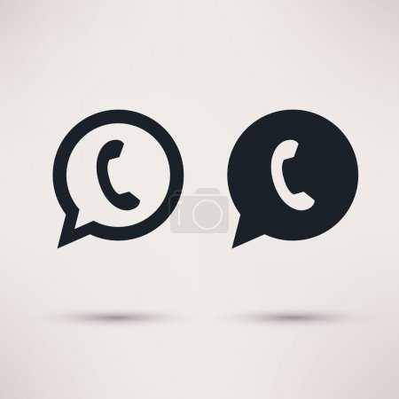 Two handset icons vector illustration flat style