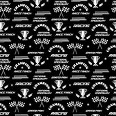 Seamless vector background with symbols of racing