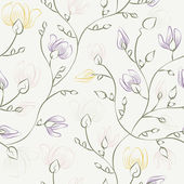 Floral print seamless background