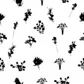 Black and White Florals Pattern