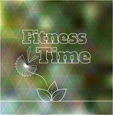 Fitness time blurred background with geometric triangle pattern