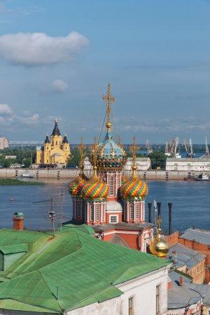 Russia. Temples of Nizhny Novgorod.