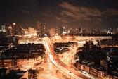 Nighttime and transportation in Bangkok city Thailand