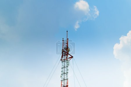 Antenna tower and blue sky...