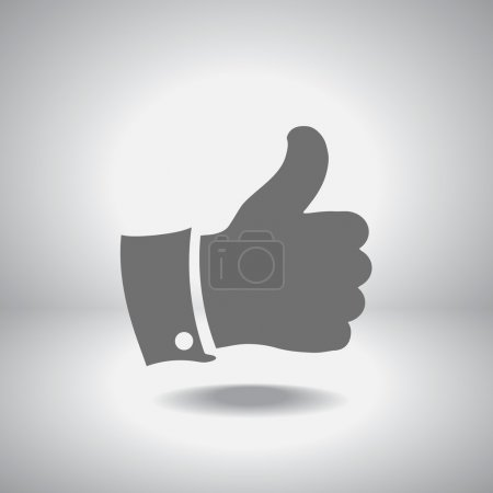 Illustration for Thumbs up icon , vector illustration. Flat design style - Royalty Free Image